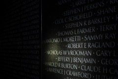 Name on Vietnam wall, Washington D.C.