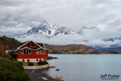 Lodge on Lake Pehoe, Patagonia, Chile