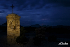 Terlingua cemetery during lightening storm
