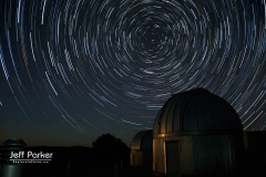 Star trails, McDonald Observatory, near Fort Davis Texas