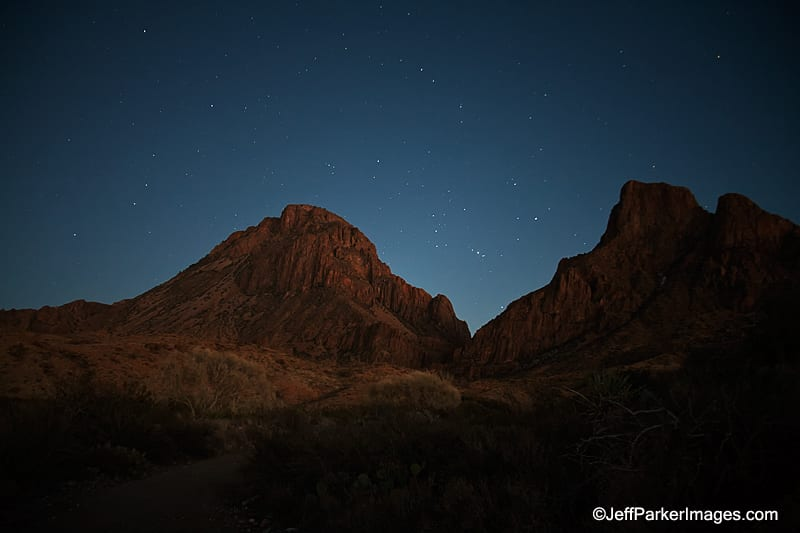 Orion through the Window, Chisos Mountains, Big Bend National Park, Texas