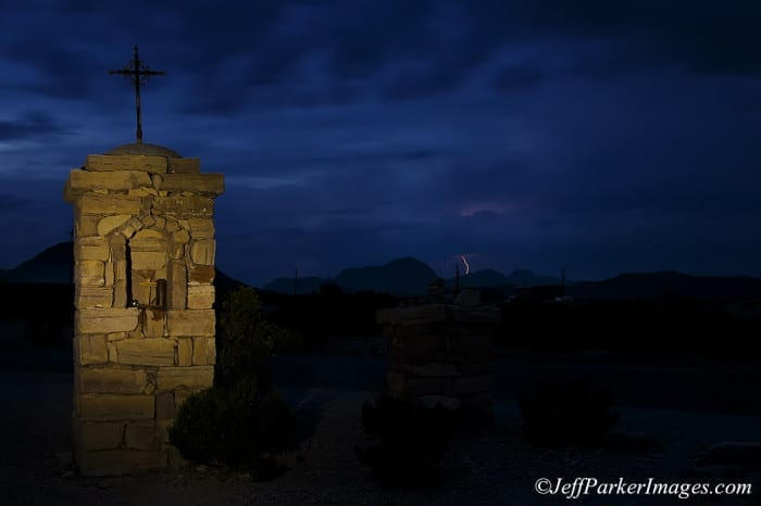 Terlingua cemetery entrance ~ ©Jeff Parker